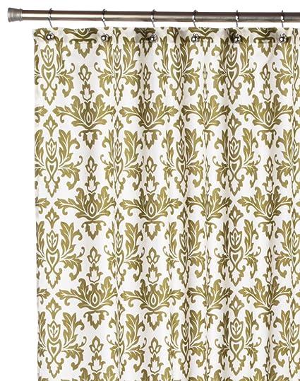 Amazon Carnation Home Fashions Damask Fabric Shower Curtain