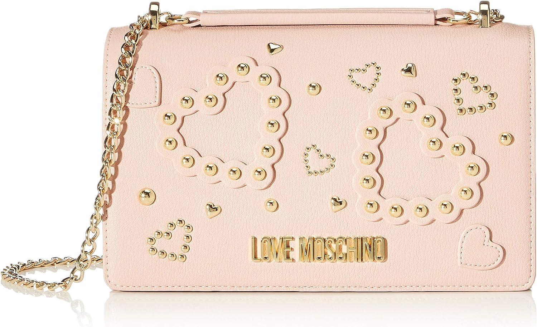 Love Moschino Jc4034pp1a, Bolsa de mensajero para Mujer, Negro, 9x16x27 centimeters (W x H x L)