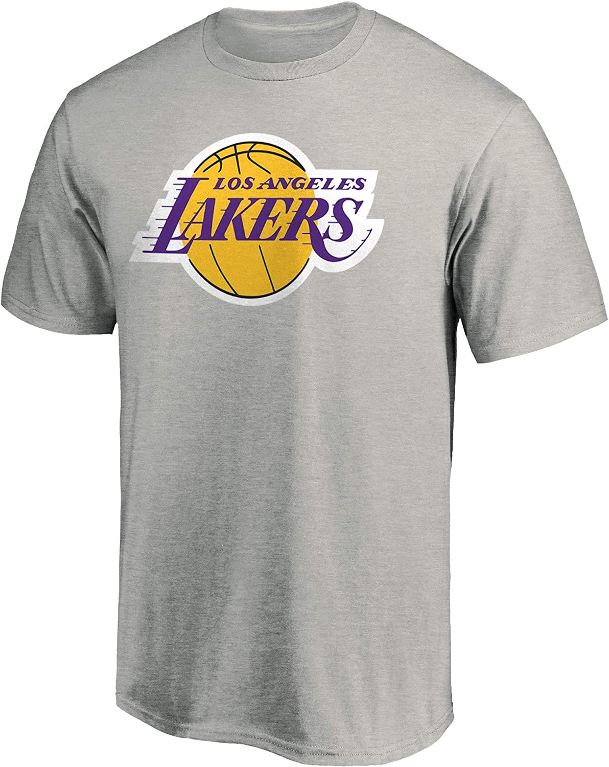 Outerstuff Los Angeles Lakers Youth Primary Logo Heather Gray T-Shirt