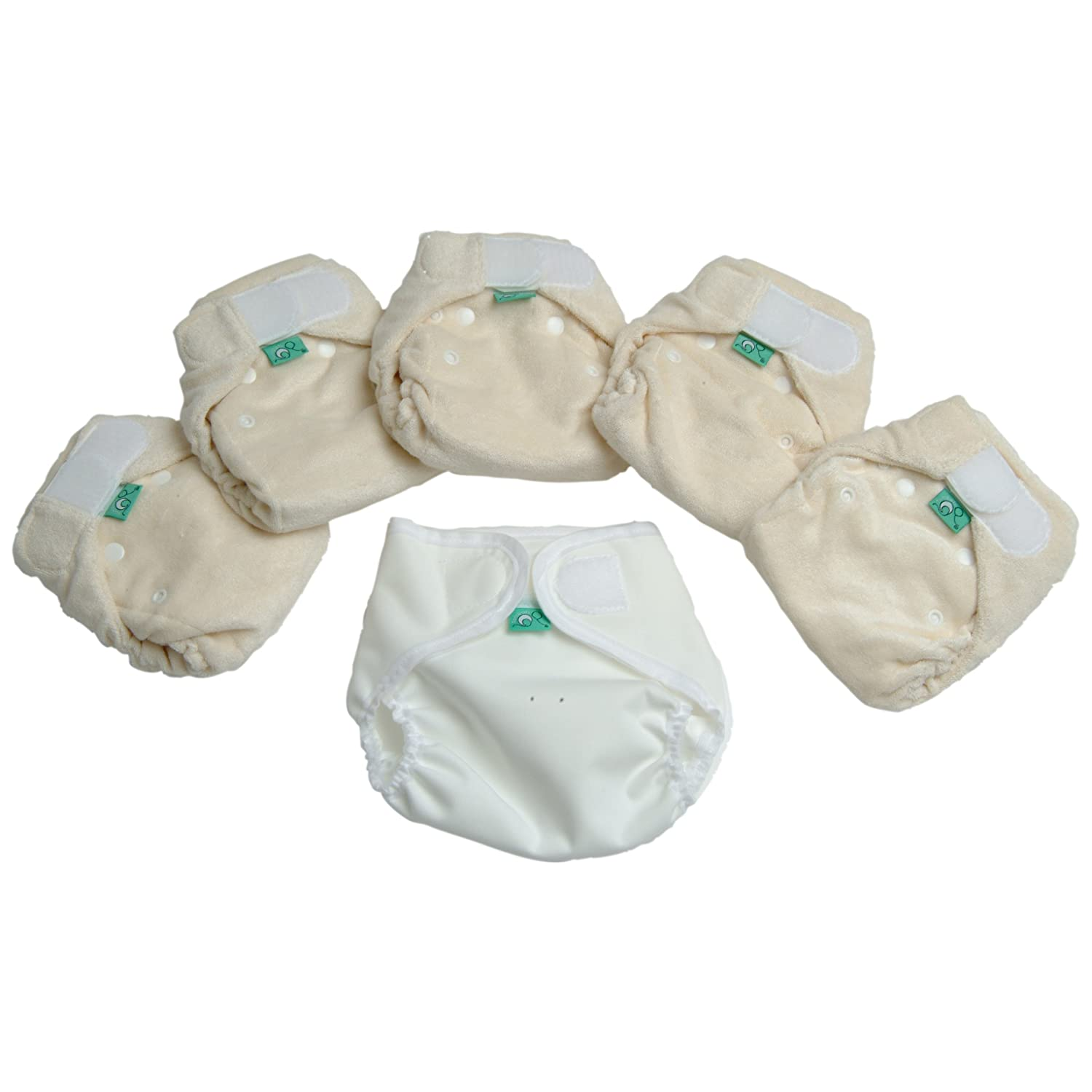 TotsBots Bamboozle Stretch 5 Pack Reusable Washable Nappies from 5lbs to 18lbs in Size 1 TSBS1MIP