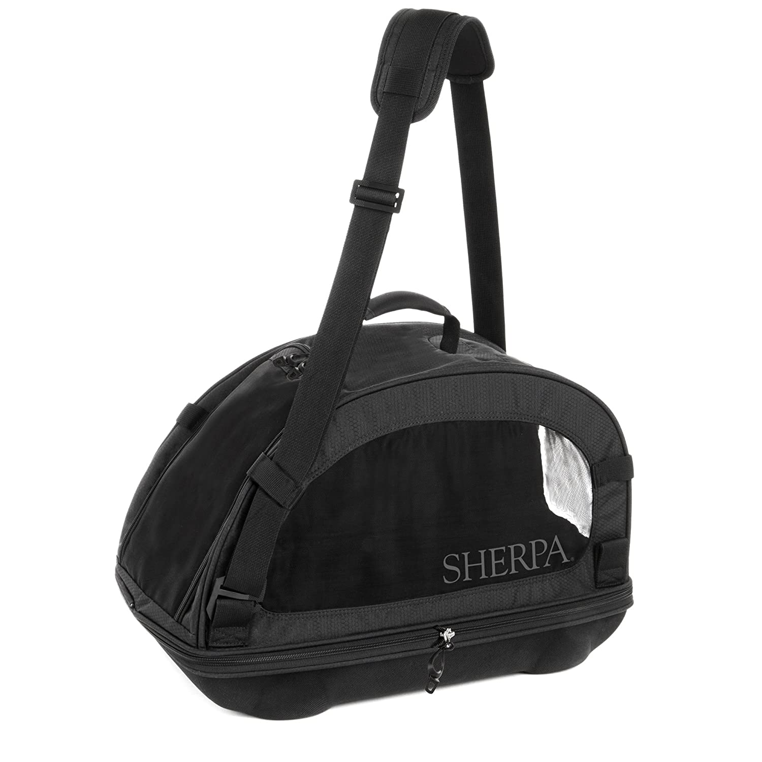 Sherpa Travel Comfort Ride Pet Carrier Medium Black Quaker Pet Group 56015