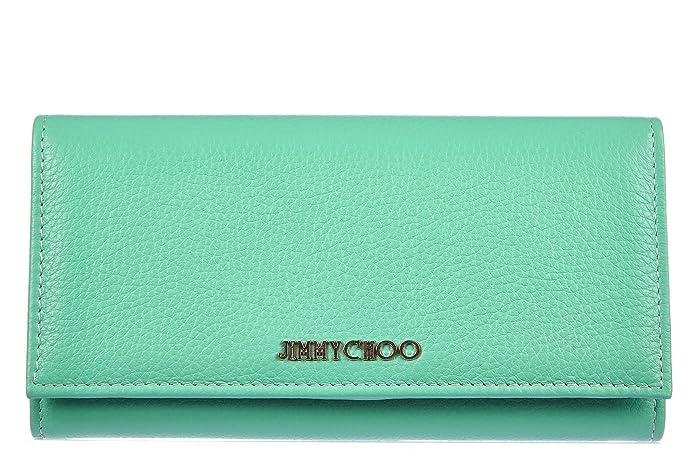 Jimmy Choo monedero cartera bifold de mujer en piel nuevo peppermint verde: Amazon.es: Zapatos y complementos