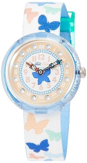 Flik Flak Reloj Analogico para niñas de Cuarzo con Correa en Tela FBNP099: Amazon.es: Relojes