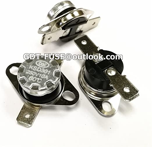 5Pcs 0°C-160°C Thermostat Temperature Thermal Switch Normally Open//Closed KSD301