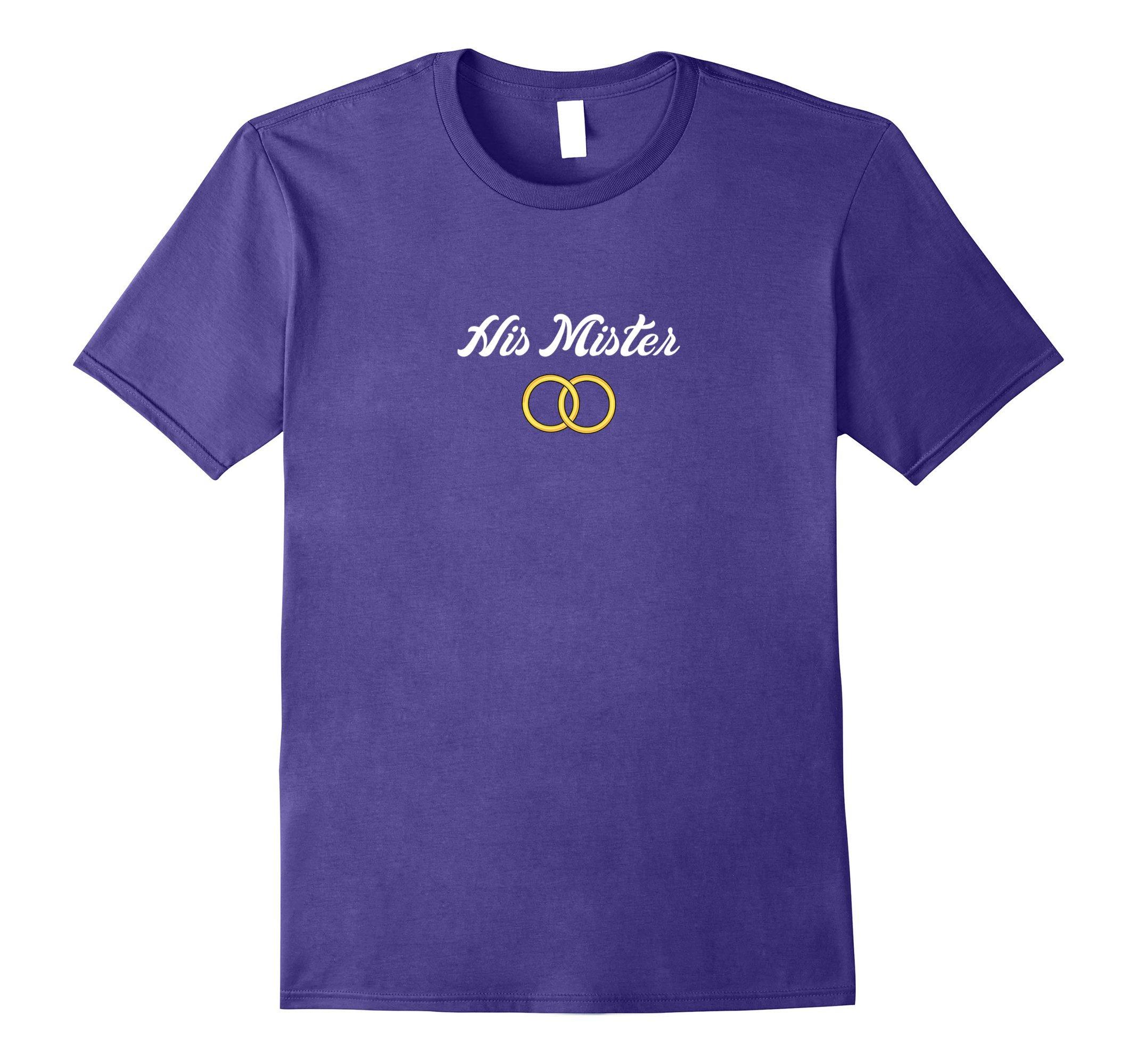 Mens Gay Wedding or Engagement Celebration T-Shirt XL Purple