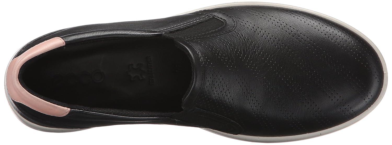 ECCO Women's Aimee Perforated Slip on Fashion Sneaker B015XORTBU 41 EU/10-10.5 M US|Black/Silver Pink