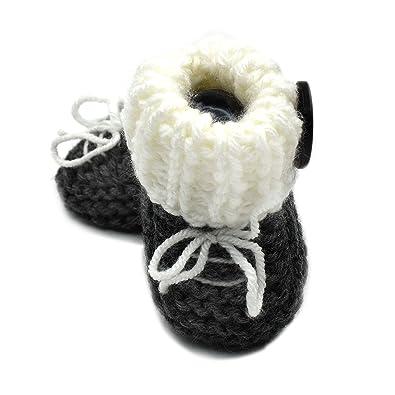8f141a46a15 Magic Needles Handmade Knit Crochet Baby Booties Uggs Crib Shoes ...