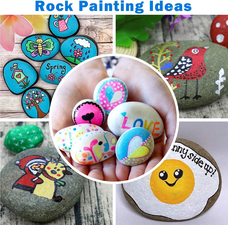 12pcs Acrylic Paint Pens Set of 12 for Rock Painting Stones Ceramic Porcelain Glass Pebbles Fabric Wood Kids DIY Canvas with Reversible Tip
