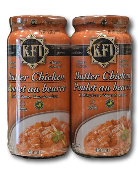 Amazon Com Kfi Premium Butter Chicken Cooking Sauce 2 Pack 2x450ml Grocery Gourmet Food