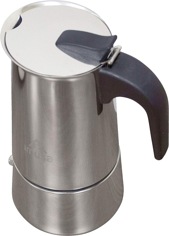 Imusa Cafetera de espresso de acero inoxidable 4 taza Plata ...
