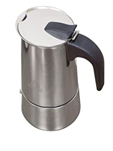 IMUSA USA B120-22061M Stainless Steel Stovetop Espresso Coffeemaker 4-Cup, Silver
