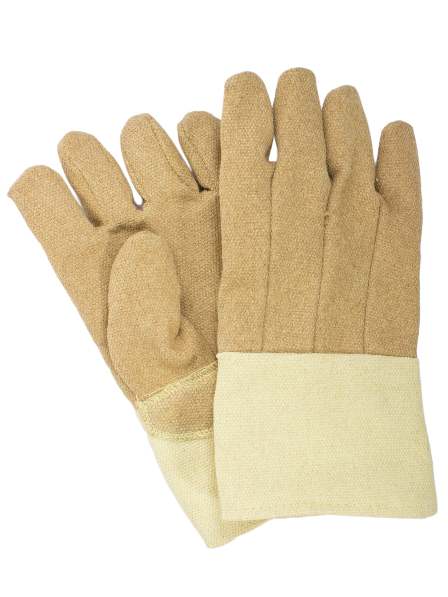 National Safety Apparel G51PCLW13714 PBI/Kevlar Glove with Thermobest Cuff, 45 oz., Large, Yellow