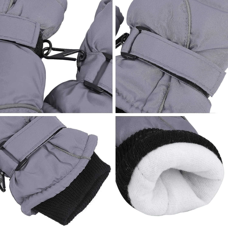 Hawiton Gants de Ski Enfant Hiver Moufles Fille et Gar/çon Chaud Antid/érapant Imperm/éable pour Sport de Plein Air