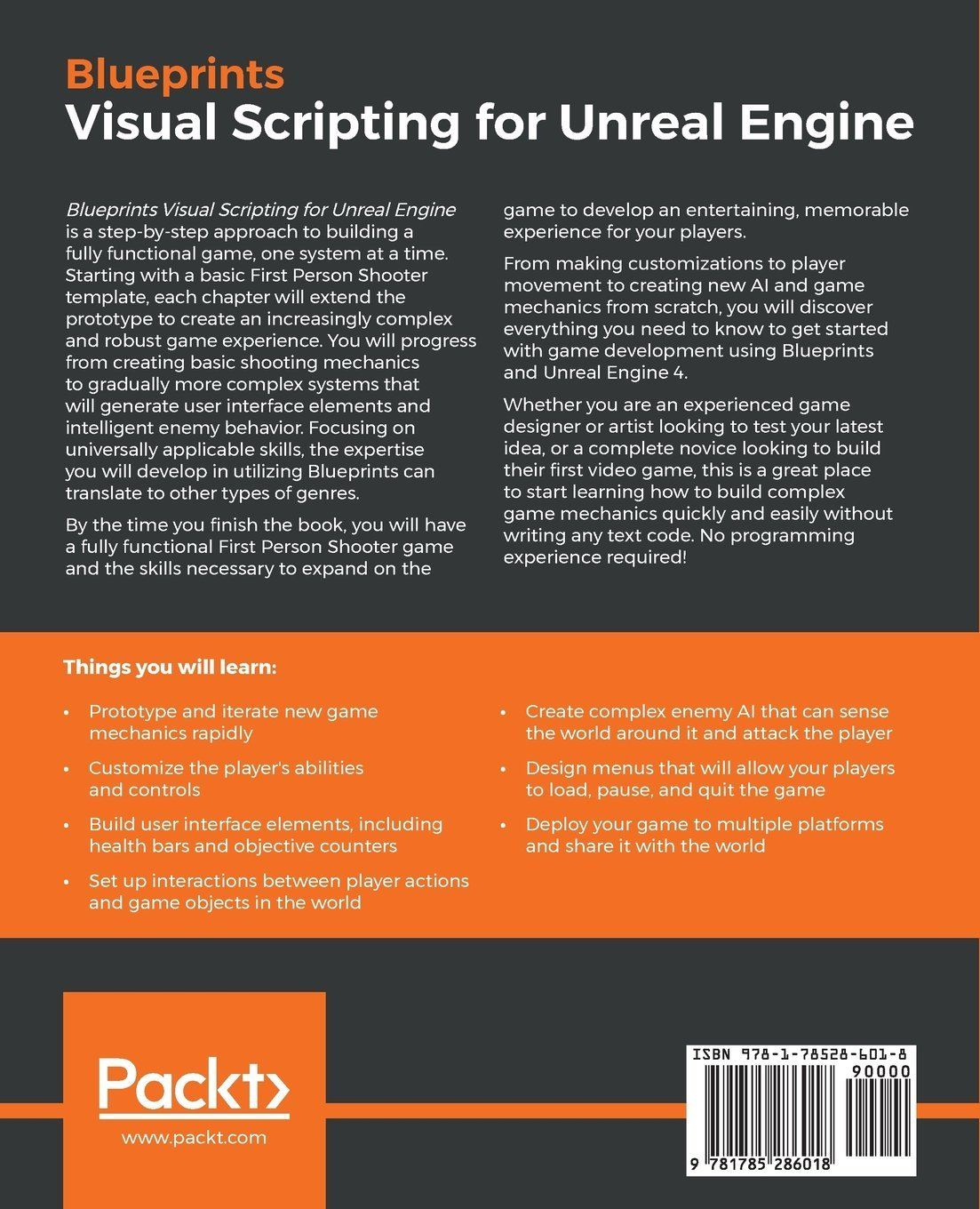 Blueprints Visual Scripting for Unreal Engine: Brenden Sewell:  9781785286018: Amazon.com: Books