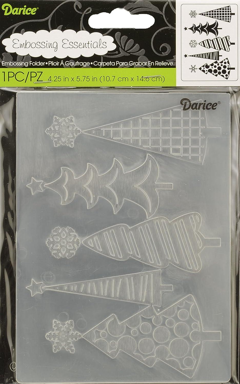 Darice 1219-424 Classeur de gaufrage Plastique Transparent 10, 8 x 14, 6 x 0, 3 cm