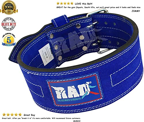 RAD Split Leather Weight Lifting Powerlifting Belt Back Support
