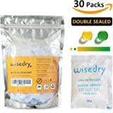 10 Gram x 30 Silica Gel Desiccant Packets with Orange Beads Humidity Indicator Safe Double Packed Drying Bags for Air Dryer Moisture Removal, Food Grade