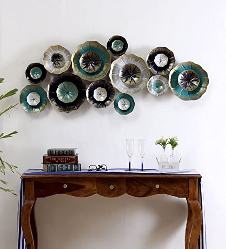 Buy Collectible India Metal Decorative Flowers Wall Hanging Modern