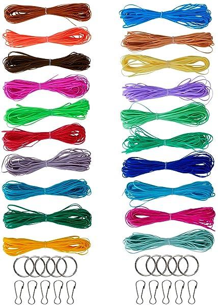 Amazon Com Yourrs 200 Plastic Lacing Cord Scoubidou String Gimp