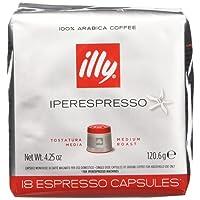illy Caffè Espresso in capsule Iperespresso, Tostatura Media, 6 confezioni da 18 capsule (totale 108 capsule)