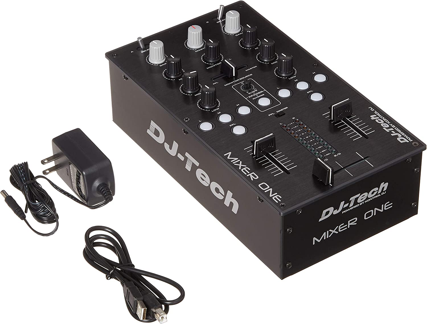 DJ TECH MIXER ONE - Mesa de mezclas (USB, 2 canales): Amazon.es ...