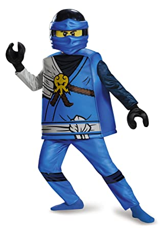 Ninjago Lego Costume Kids Jay Deluxe Outfit Small Age 4 - 6 years  sc 1 st  Amazon UK : ninjago costumes for kids  - Germanpascual.Com