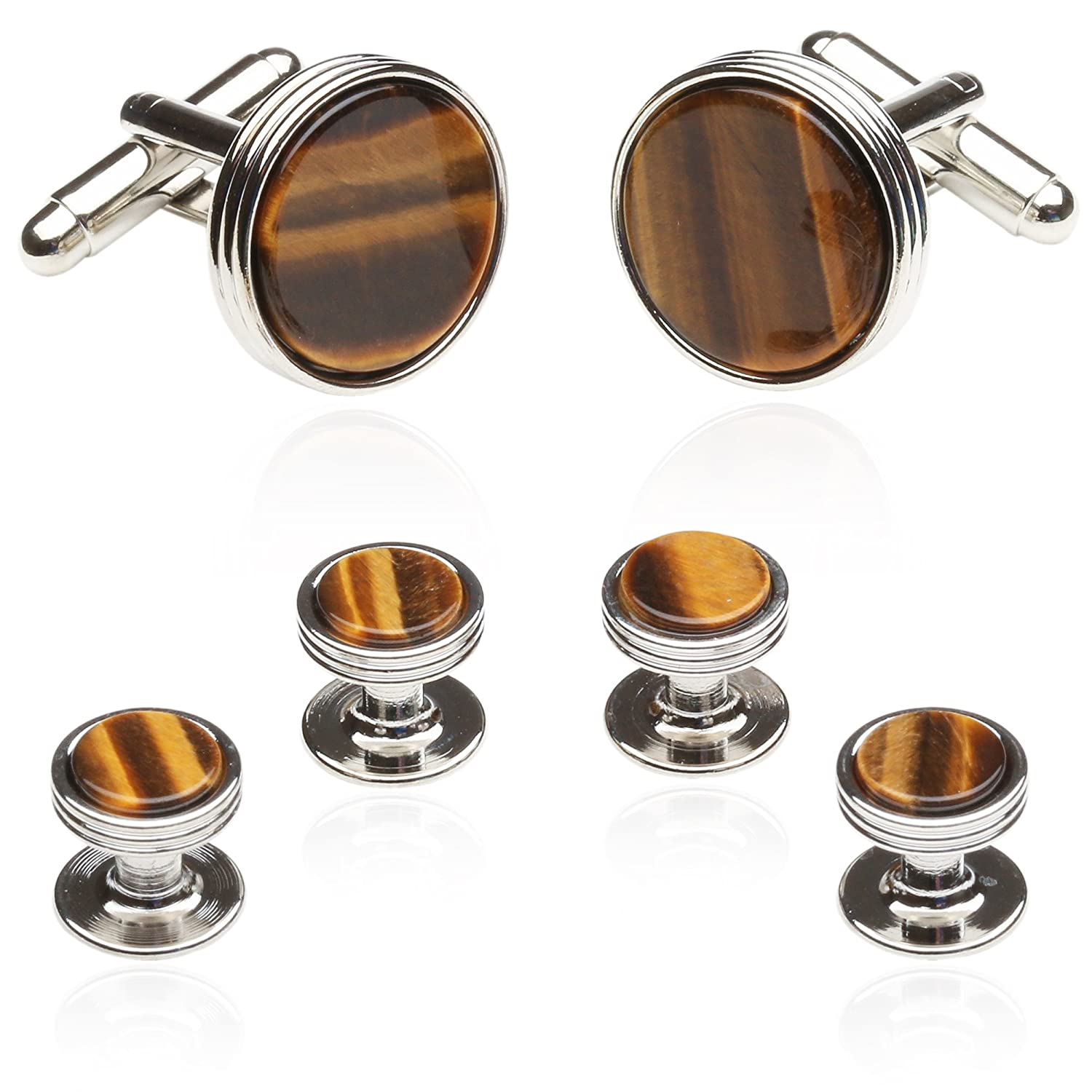 Tigers Eye Formal Set in Silver By Jewelry Mountain