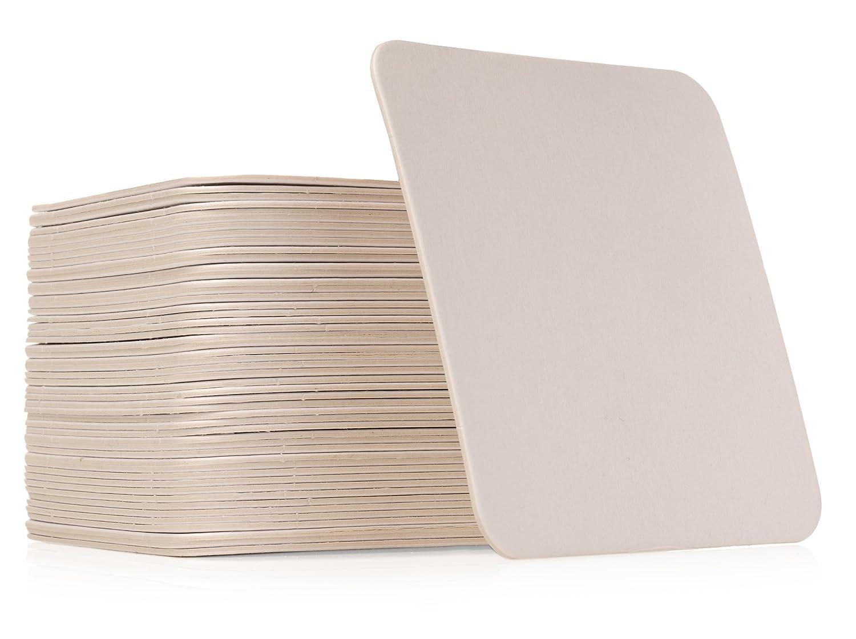 Amazon Qty 50 Plain White Square Coasters Zentangle Tiles