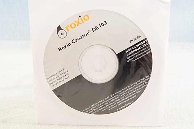 Amazon com: Roxio Creator DE 10 3 Part Number J250N Backup