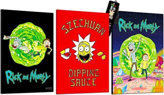 Rick and Morty TV show reproduction poster 24x36 family room Adult Swim