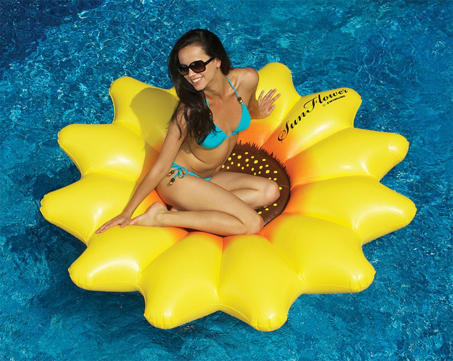 72 Water Sports Inflatable Sunflower Island Swimming Pool Raft Swim Central