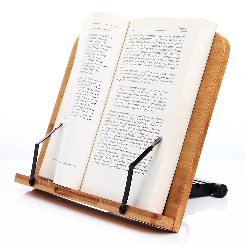 LH246 Leseständer Buchhalter aus Natur Bamboo, Große Ausführung Große Ausführung Yiwu Firm