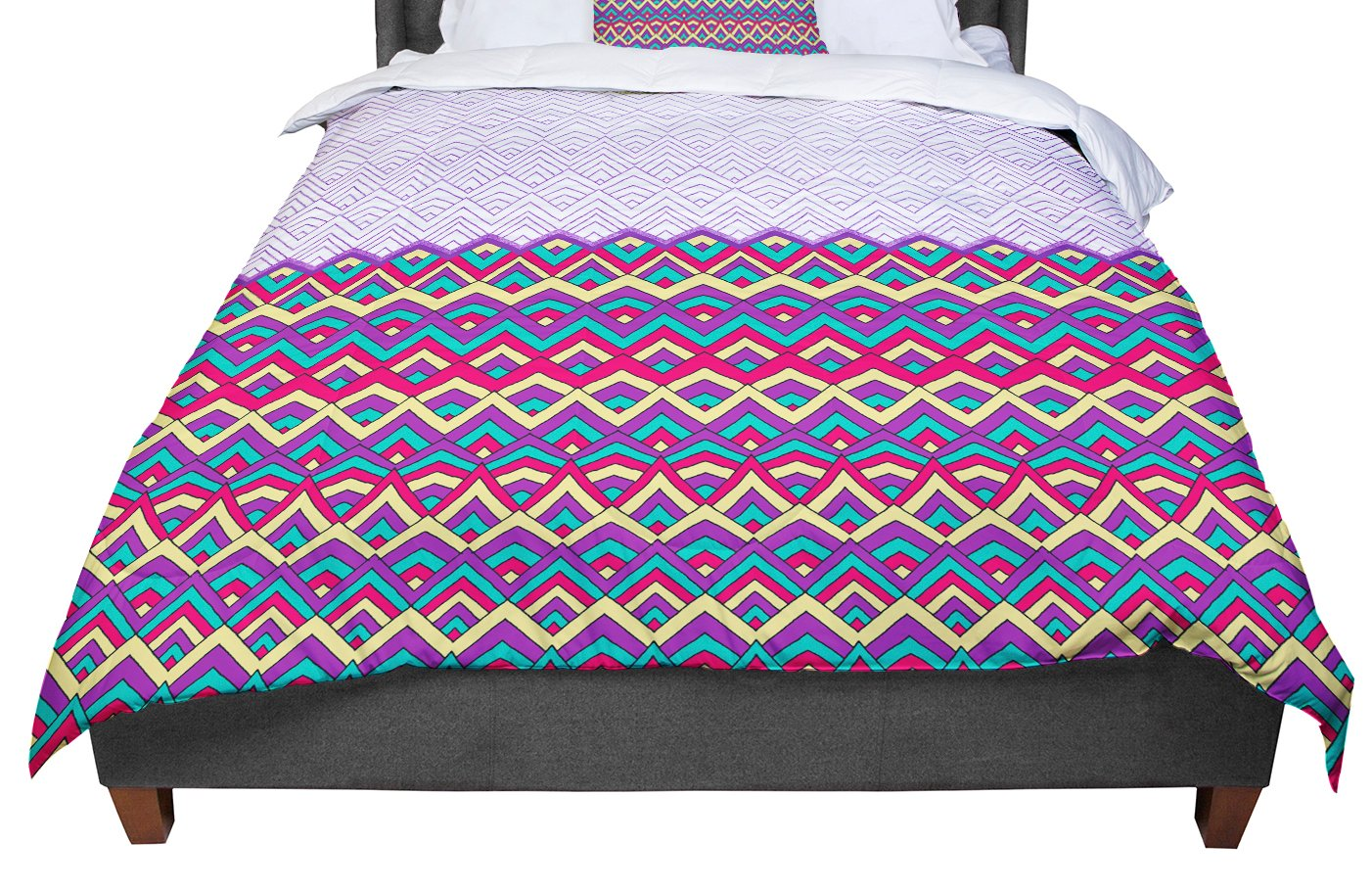 KESS InHouse Pom Graphic Design Horizons II King 104 X 88 Cal King Comforter