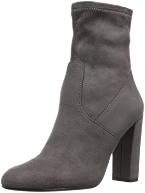 Steve Madden Women's Brisk Ankle Bootie, Grey, 6 M US