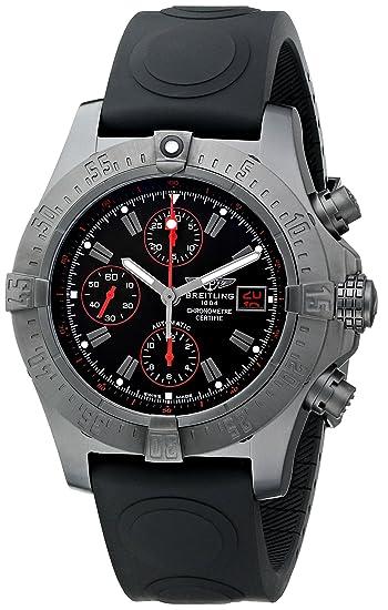 Breitling M133802C-BC73 - Reloj de pulsera hombre, Caucho, color Negro: Breitling: Amazon.es: Relojes