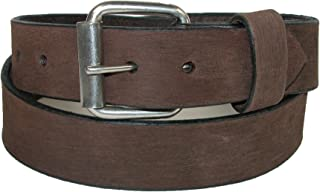 product image for Boston Leather Men's Big & Tall Bark Leather 1.5 Inch Belt