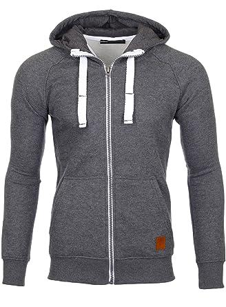 167901bc09a2 Reslad Herren Sweatjacke Kapuzenpullover Hoodie Jacke mit Kapuze Zipper  Pullover RS-1040  Amazon.de  Bekleidung