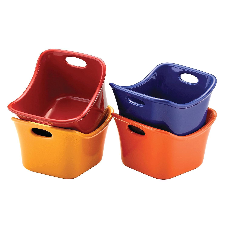 Rachael Ray 53294 Ramekins Dipping Cups, 10-Ounce, Assorted