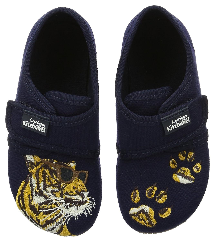 Living Kitzbühel Klettmodell Tiger, Zapatillas de Estar por Casa para Niños, Azul (Marine 570), 25 EU