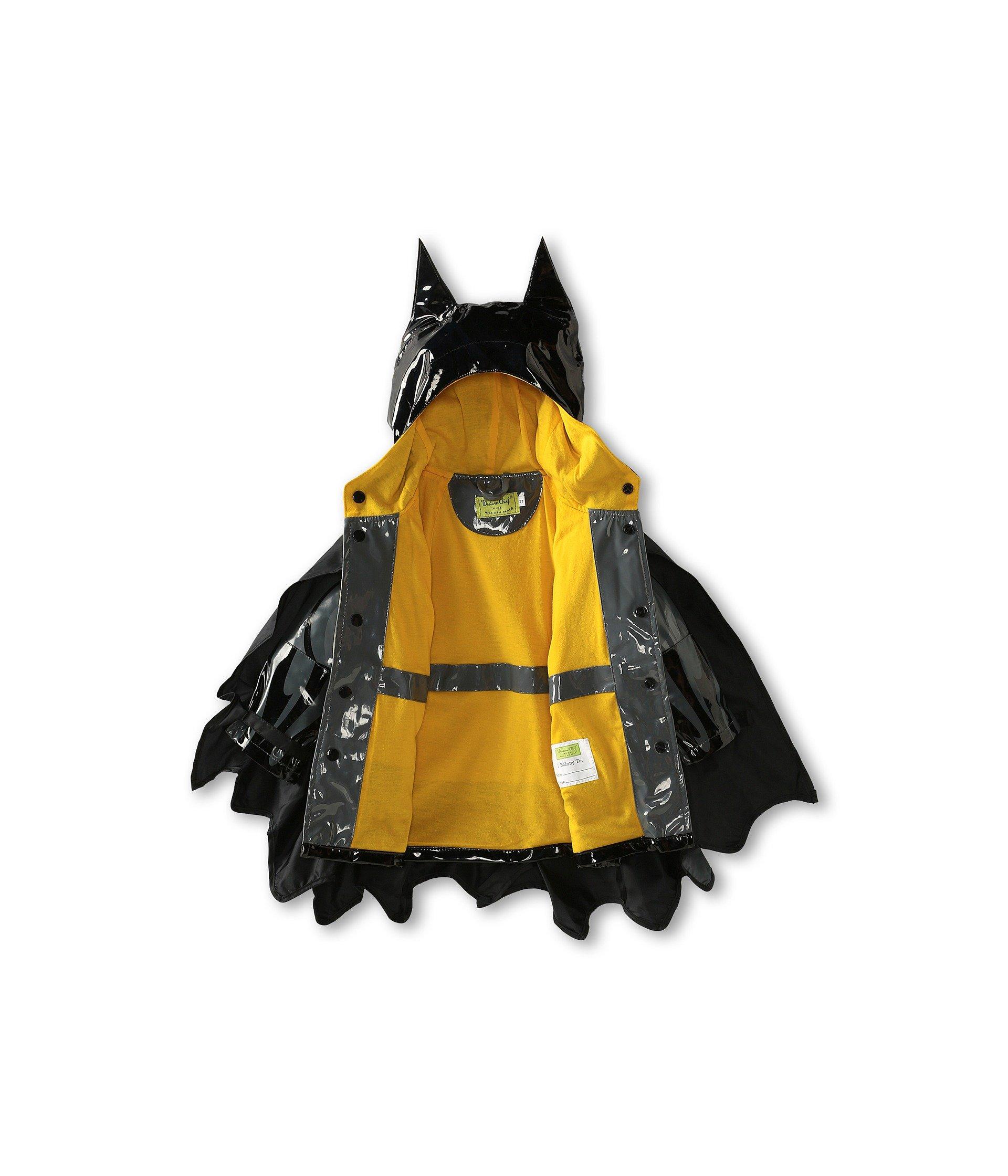 Western Chief Little Boys' Batman Everlasting Rain Coat, Black, 5/6 by Western Chief (Image #4)