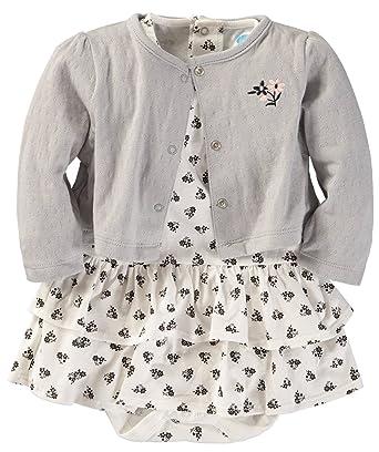 eba070974b Bon Bebe Baby Girls  2 Piece Cardigan and Dress Set (Black White Floral