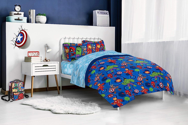 Jay Franco Marvel Super Hero Adventures Hero Together Full Comforter Official Marvel Product Super Soft Kids Bedding Features The Avengers Fade Resistant Microfiber