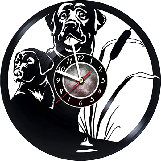 Gift ideas for kids teens boys Kids Room wall decor Cartoon Unique Art Design DOGS Vinyl Record Wall Clock girls