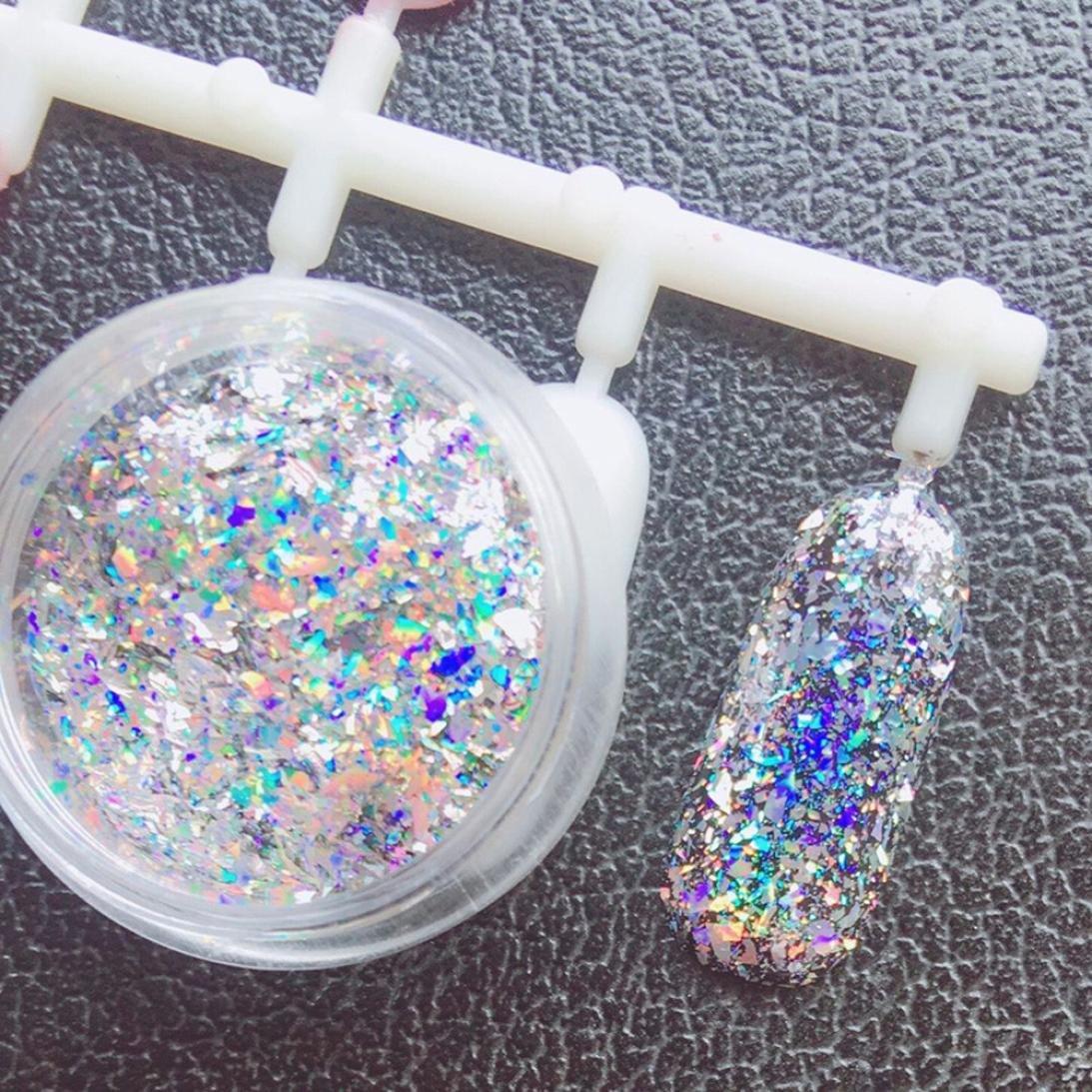 Dolloress Beauty Nail Belleza Uña⭐ DIY Nail Decal Mirror Glitter Aluminum Flakes Magic Mirror Effect Powders Sequins