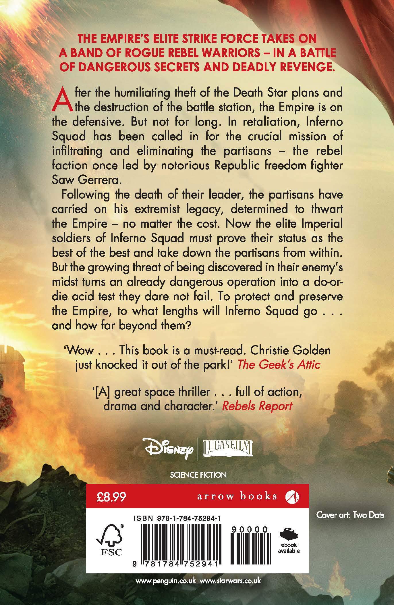 Star Wars Battlefront Ii Inferno Squad 9781784752941 Amazon Com Books