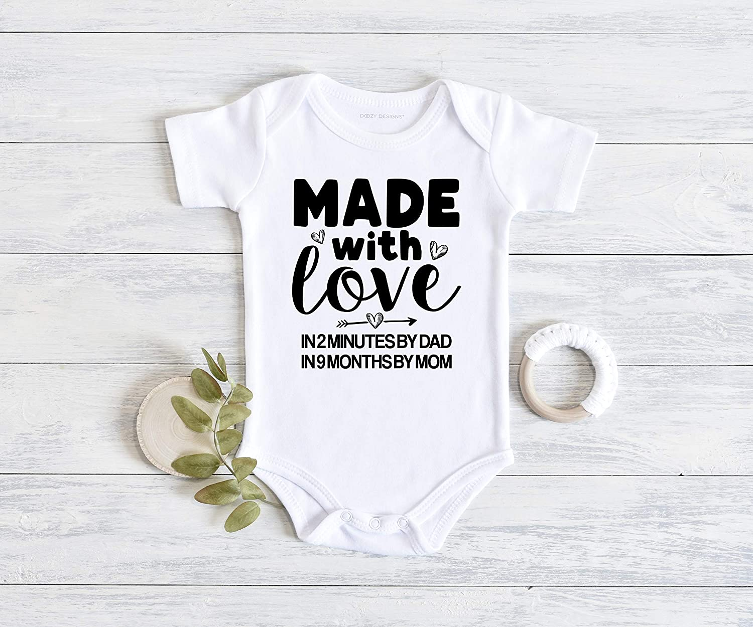 funny  Custom Printed Baby Onesie Baby Gift Available in 3 Colors How Bout NO