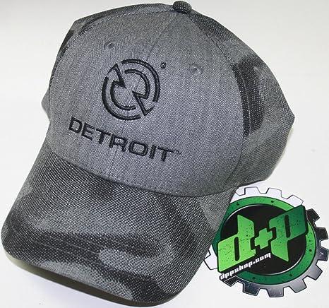 728df3a6559bf Amazon.com  Detroit Trucker Ball Cap hat Gear Motor Engine Diesel semi  Baseball Gray camo  Automotive