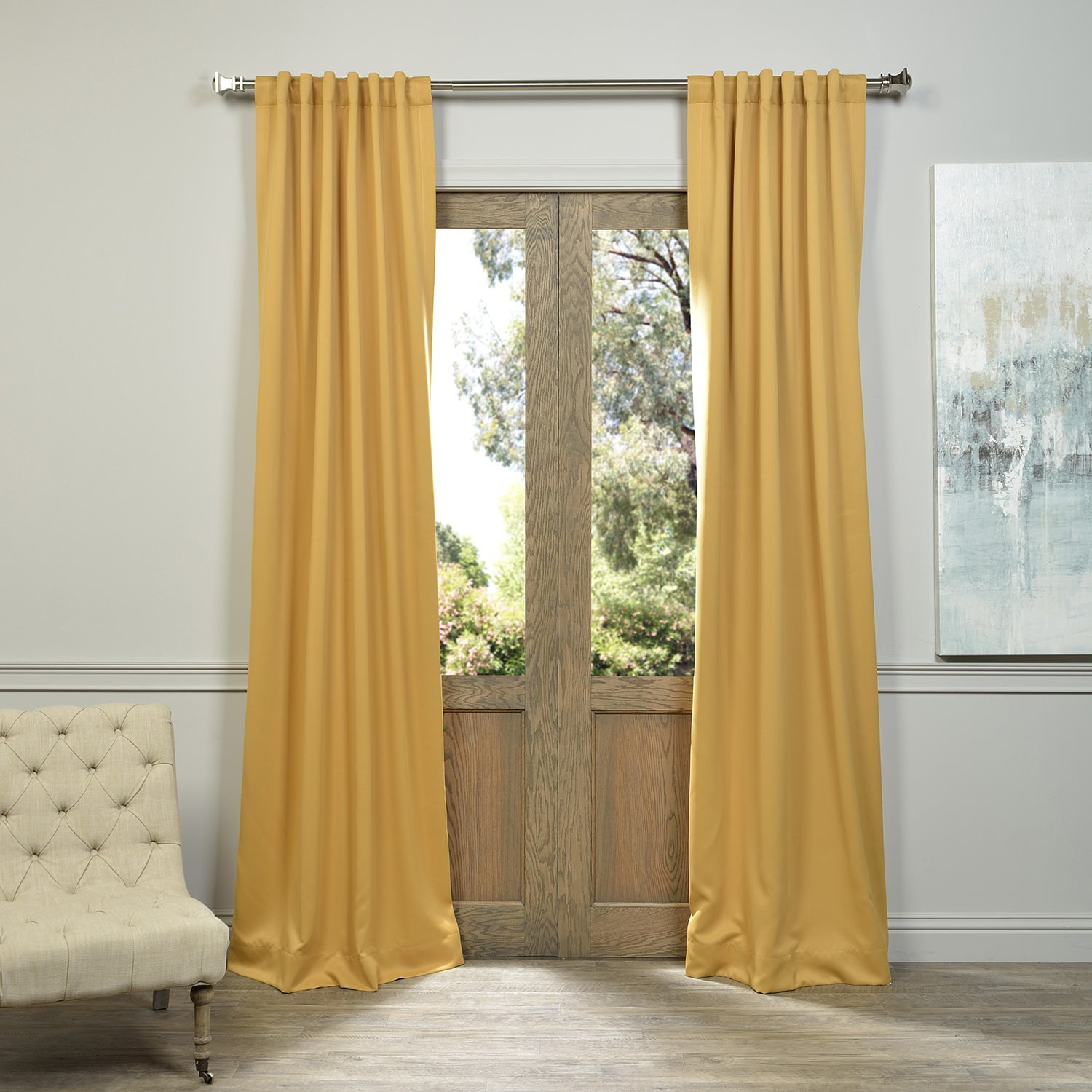 Half Price Drapes BOCH-201303-84 Blackout Curtain, Marigold