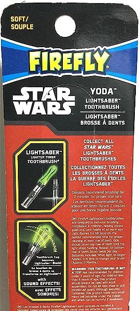 Amazon.com: Firefly Star Wars Yoda Lightsaber Light-Up Talking Timer Toothbrush: Beauty