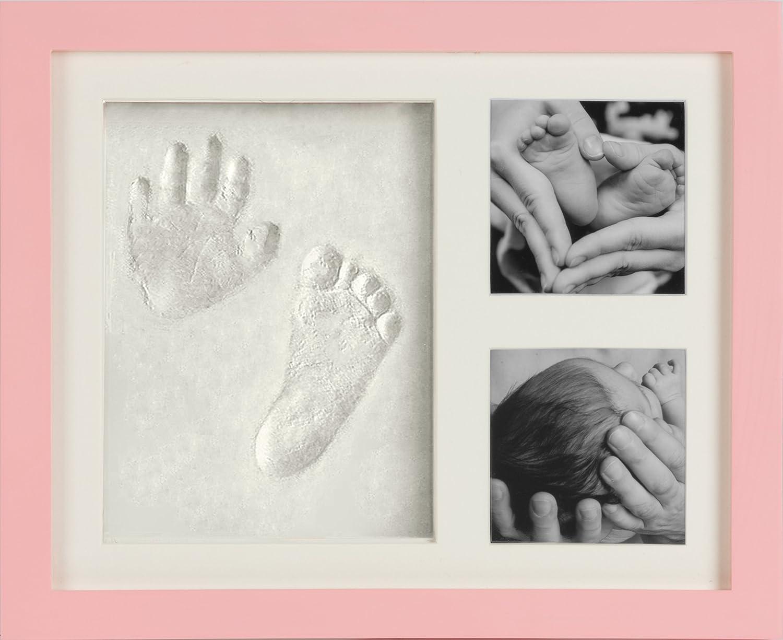 Baby Bilderrahmen für Handabdruck & Fußabdruck   Geschenk zur Geburt ...
